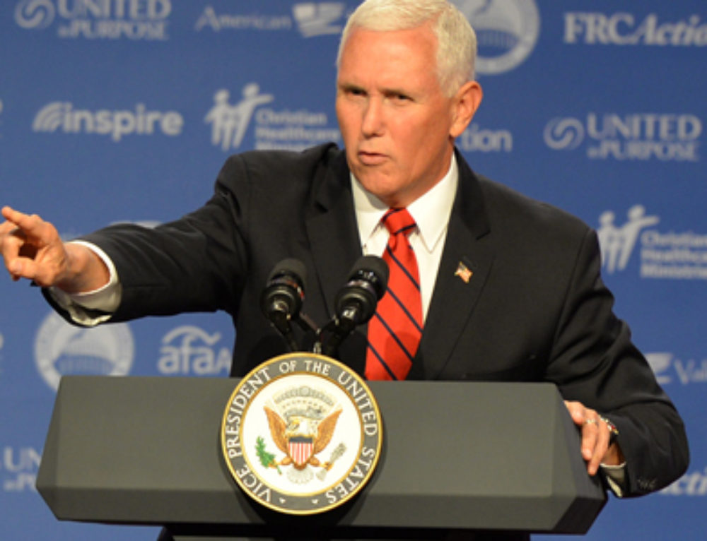 Pence Urges Voters to Back Trump Over Anti-LGBT 'Religious Freedom' Acts