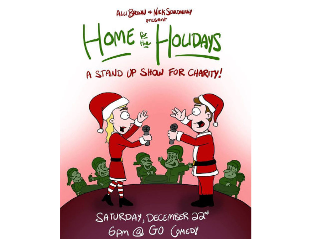 Home for the Holidays Dec. 22 Stand-Up Charity Show