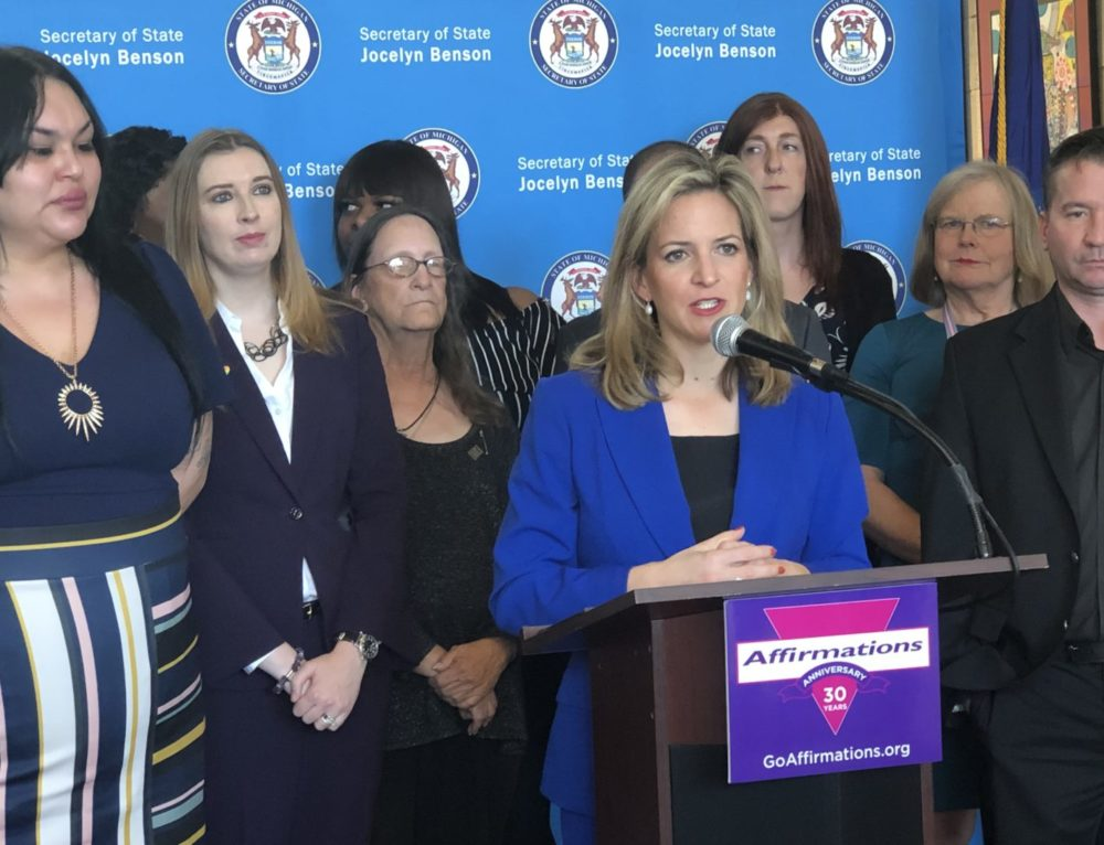 Secretary of State Jocelyn Benson, Trans Advocates Announce Revised Policy for Changing Sex-Indicator on ID