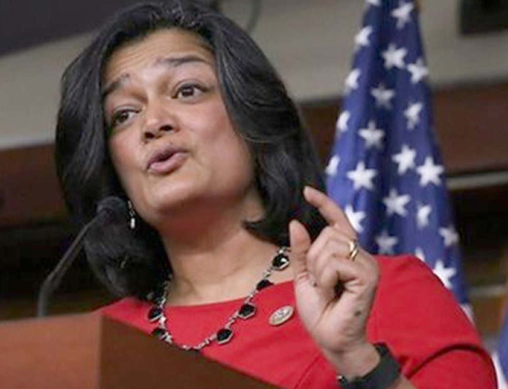Jayapal Reiterates Call for Stephen Miller's Resignation at Victory Fund Conference