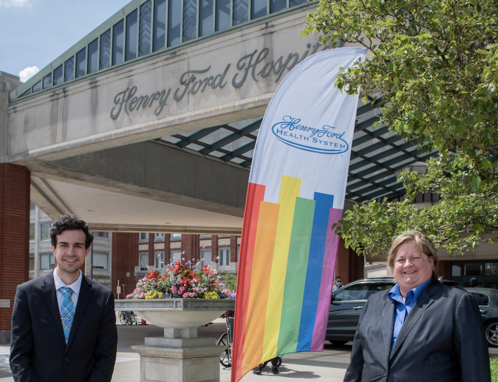 Henry Ford Health System Recognizes Pride Month with Flags Outside Hospitals, Offices