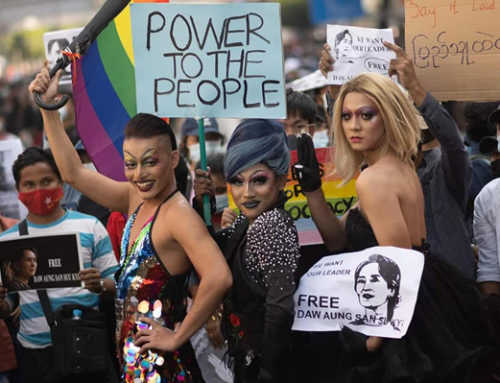 LGBTQ Activists in Myanmar Join Protests Against Military Coup
