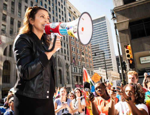 'I Love You': Gov. Whitmer Affirms Michigan's LGBTQ+ Community Before Leading Detroit Pride Parade (Exclusive)